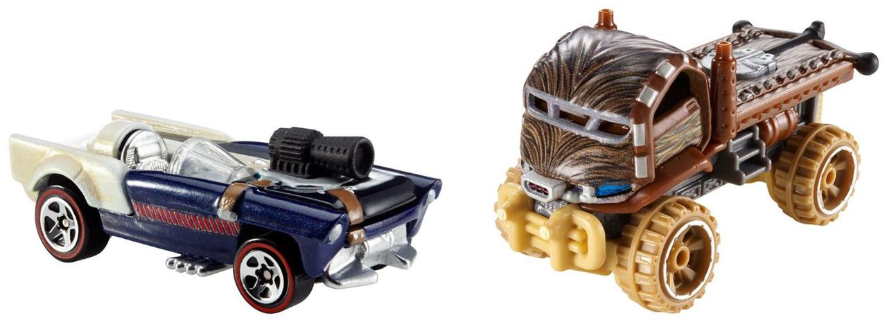 Хот Вилс Набор машинок Звездные войны Хан Соло и Чубакка Hot Wheels Star Wars Chewbacca and Han Solo