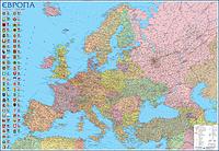 Карта Европы Политическая 160*110