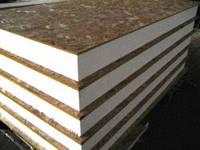Напольные сендвич-панели (оцинк. сталь/фанера) 100 мм, ОСП 10 мм