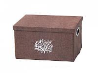 Текстильный короб с крышкой Коралл, фото 1