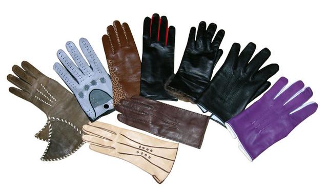 Кожаные перчатки рабочие (краги)