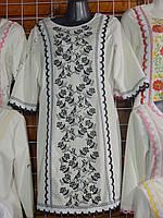 """Трикотажное платье вышиванка """"Птичка"""""""