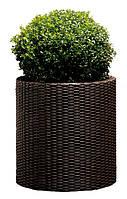 Горшок цветочный Cylinder large 39 л коричневый, Keter (ЕС)