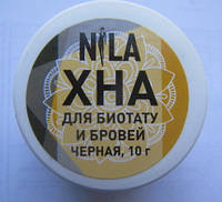 "Хна для бровей и био тату ""NILA"" черная 10 грамм"