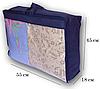 Сумка для хранения вещей\сумка для одеяла S (синий), фото 2