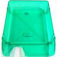"""Лоток для бумаг горизонтальный, пластиковый """"Skiper"""", цвет зеленый"""