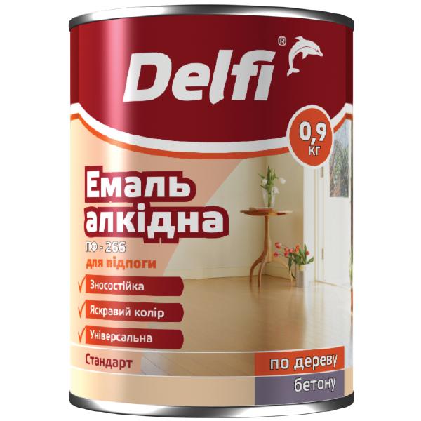 Емаль для підлоги Delfi ПФ 226 золотисто-коричнева 0.9 кг Полісан