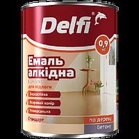 Эмаль для пола Delfi ПФ 226  красно-коричневая 0.9кг Полисан