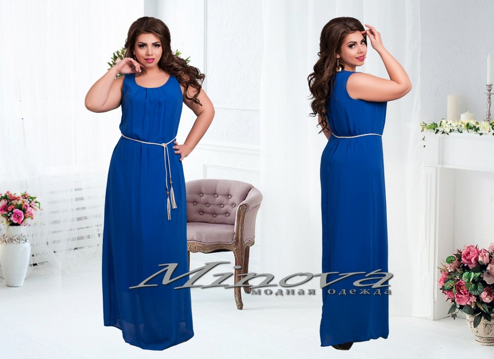 Длинное платье сарафан 46-54