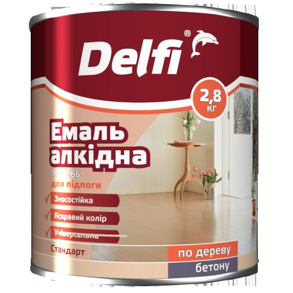 Эмаль для пола Delfi ПФ 226  желто-коричневая 2.8кг Полисан