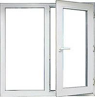 Двухстворчатое окно Опентек недорого двухкамерный стеклопакет
