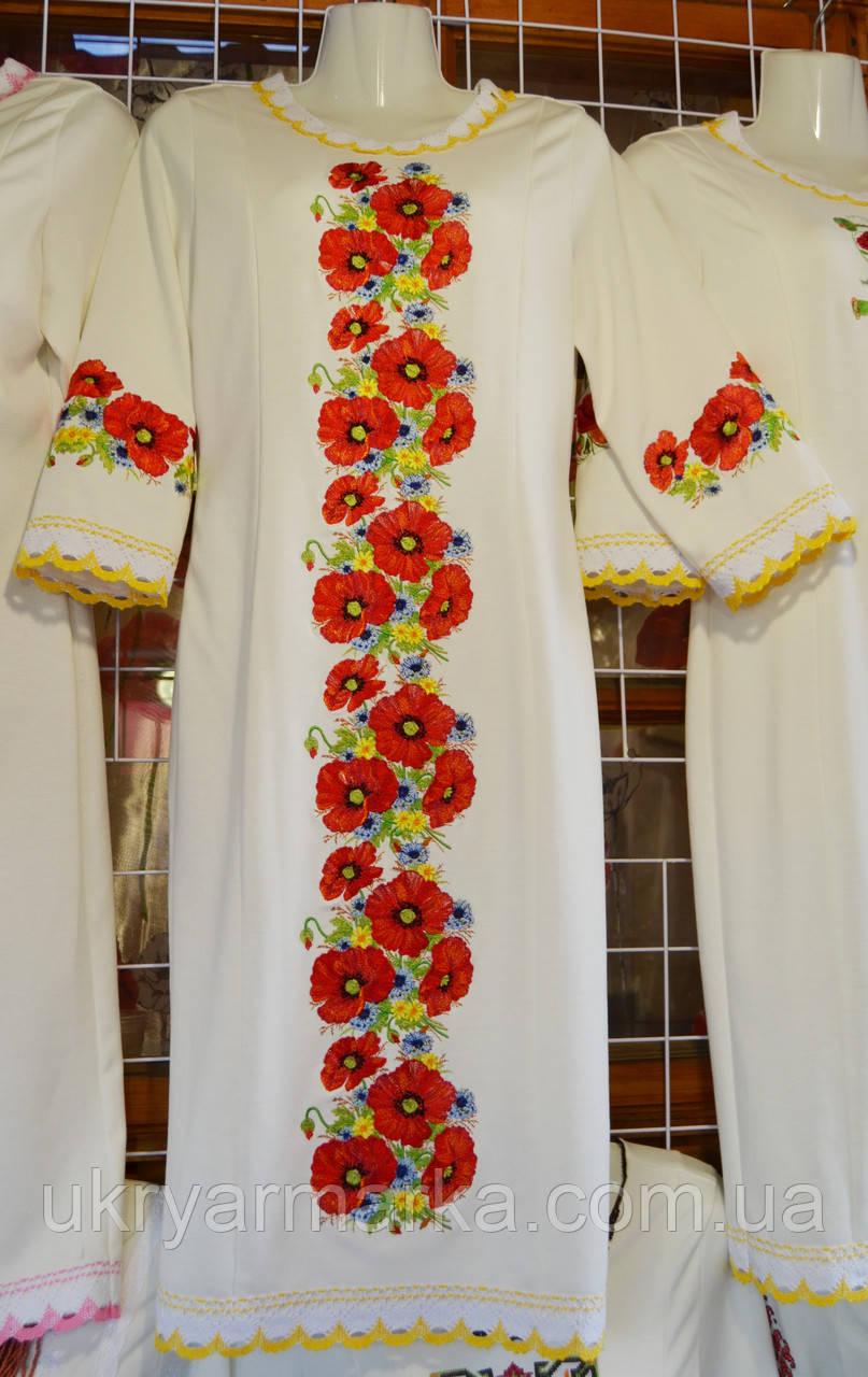 """Жіноче трикотажне плаття """"Квіти майори"""""""