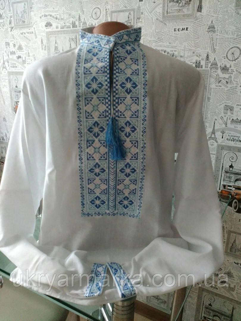 Вишита українським традиційним геометричним орнаментом . Така вишиванка  гідна справжнього українця. Домоткане полотно fd4bdb0c7b2d4