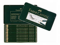 Набор карандашей чернографитных Castell 9000 5Н-5В 12 шт. в металлической коробке