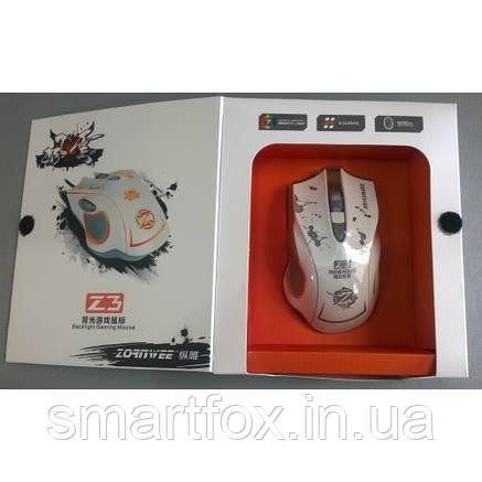 Мышь проводная игровая Z3 (Белый), фото 2