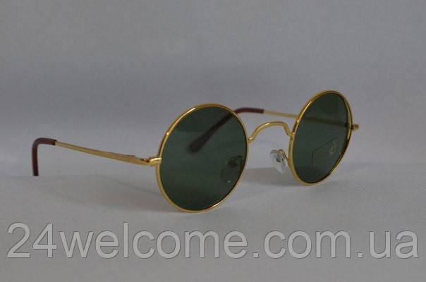 c3cd9f28c53d Солнцезащитные очки круглые золотистая оправа - Интернет магазин WELCOME в  Харькове
