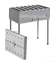 Мангал-чемодан на 6 шампуров | холоднокатанный метал