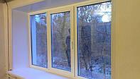 Пластиковое окно Decco 82  трехстворчатое недорого