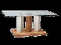 Журнальный столик Trial Signal белый лакированный+дуб сонома