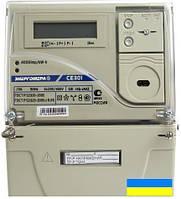 Электросчетчик Энергомера СЕ303-U A S31 146 JAVZ 5-100А (аналог СЕ301) трехфазный двухзонный (Украина)