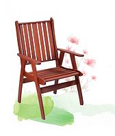 Долговечная мебель из мербау: кресло Нордфолк, 614х715х920 мм, натуральный цвет