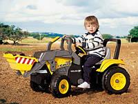 Веломобиль MAXI Excavator- детский педальный экскаватор с цепным приводом 2шт., фото 1