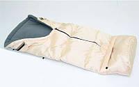 Спальный мешок на флисе цвет молочный