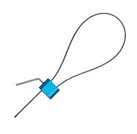Пломба силовая (ЗПУ) Трос-2,5/1200 с закруткой, мин.заказ - 10 шт.
