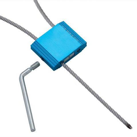 Пломба силовая (ЗПУ) Трос-2,5/ 1200 с закруткой, мин.заказ-10 шт.
