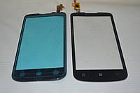 Тачскрин / сенсор (сенсорное стекло) для Lenovo A800 (черный цвет, самоклейка)