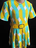 Детское летнее платье с широким поясом., фото 1