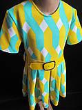Детское летнее платье с широким поясом., фото 2