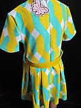 Детское летнее платье с широким поясом., фото 4