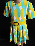 Детское летнее платье с широким поясом., фото 5