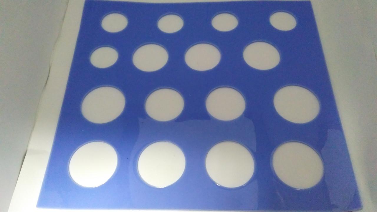 """Силиконовый коврик-форма для шоколада """"Круги"""" (код 04869)"""
