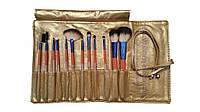 Набор кистей для макияжа (визажа) Salon Professional, золотой