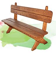 Уличная мебель для дачи, лавка 200/140 см, древесина дуб или ясень