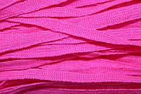 Тесьма акрил 6мм (50м) розовый яркий