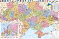 Карта Украины Административная  А2.