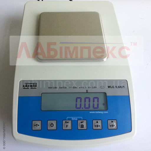 Весы лабораторные Radwag WLC 0.6/C/1