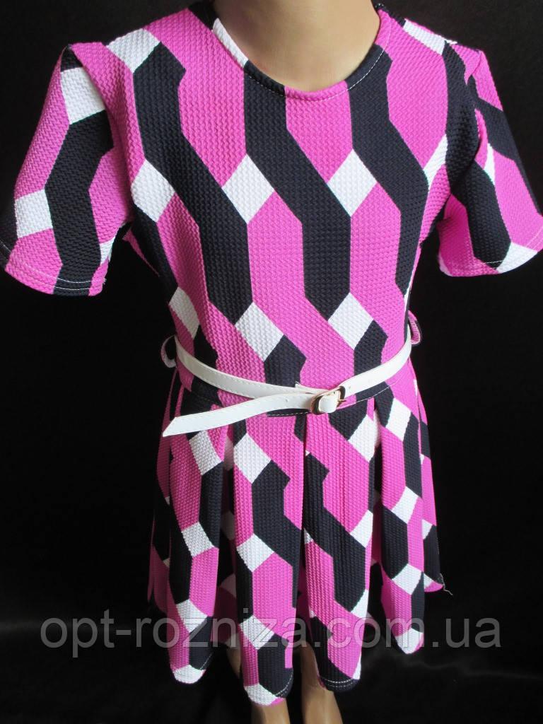Качественное трикотажное платье для девочки.