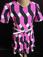 Качественное трикотажное платье для девочки., фото 1