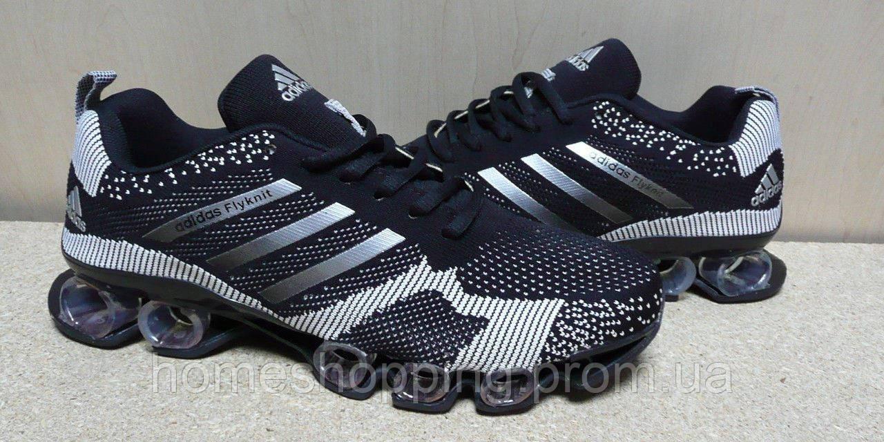 Мужские Кроссовки Adidas Bounce Flyknit черно-белые