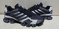 Мужские Кроссовки Adidas Bounce Flyknit черно-белые, фото 1