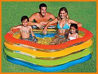 Детский надувной бассейн Intex 56495 лето красок, 185*180*53 см