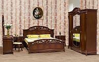 Кровать Жозефина 1,6 м темная с мягким изголовьем