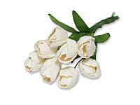 Букет тюльпанов - Белый, 10x20 мм, 5 шт