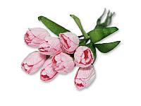 Букет тюльпанов - Розовый, 10x20 мм, 5 шт