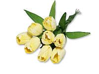 Букет тюльпанов - Светло-желтый, 10x20 мм, 5 шт