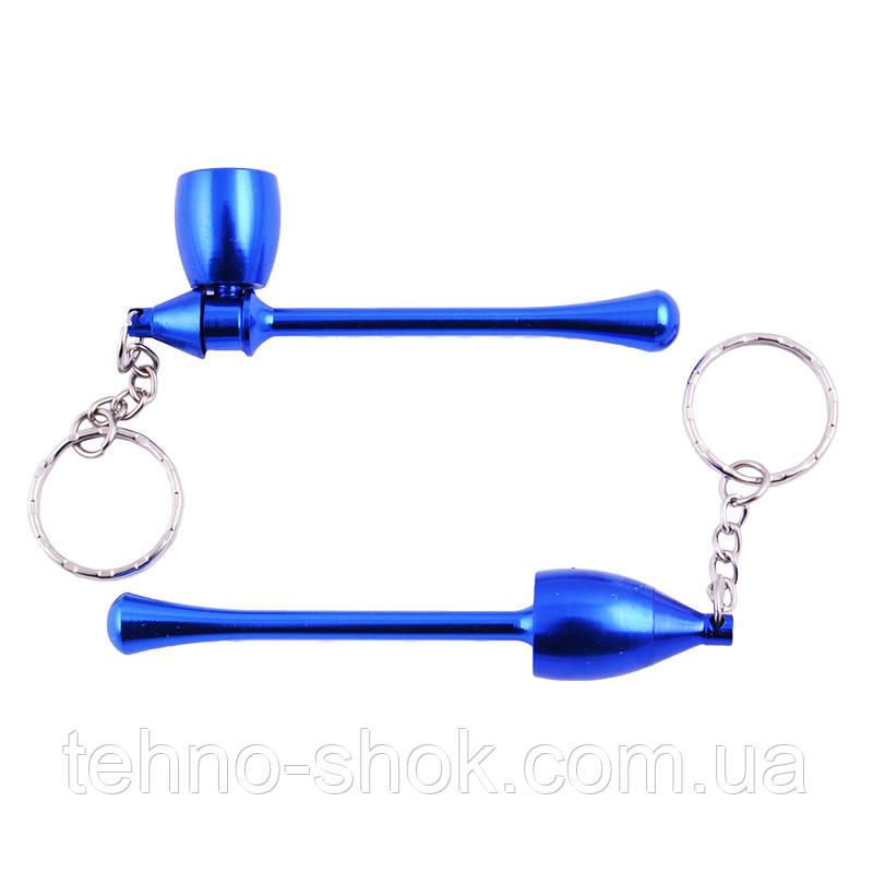 Трубка для курения-брелок Капля (синяя) №4685